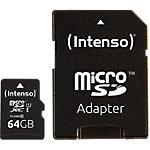 Carte microSDHC Intenso 64GB microSDXC 64 Go