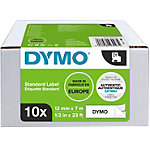 Ruban d'étiquettes DYMO D1 45013 12 mm x 7 m Noir sur Blanc 10 Unités