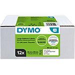 Étiquettes d'adresse DYMO LW 99012 89 mm Noir sur Blanc 1560 Unités