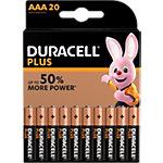 Piles Duracell Plus Power AAA LR03 1,5V Alcaline 20 Unités