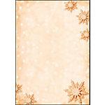 Papier à lettre de Noël motif Flocons de neige dorés Sigel DP234 90 g