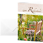 Carte de félicitation «bonne retraire» Sigel DS044 220 g