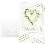 Carte de félicitation «mariage» Sigel DS042 220 g
