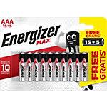 Piles Energizer Max AAA Paquet économique 15 + 5 gratuit
