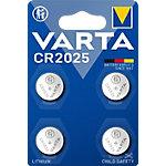 Piles électroniques VARTA CR2025 4 Unités