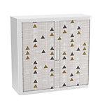 Armoire basse Paperflow EasyOffice avec 2 étagères