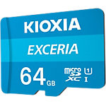 Carte mémoire microSD KIOXIA Exceria U1 Class 10 64Go