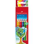 Crayons de couleurs Faber Castell Jumbo Grip Assortiment 6 Unités