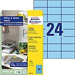 Étiquettes Avery 3449 10 70 x 37 mm Blanc 10 feuilles de 24 étiquettes