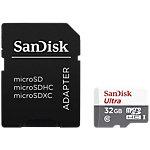 Carte mémoire SanDisk Ultra Lite microSDHC UHS I avec adaptateur tab SD 32 Go Classe 10