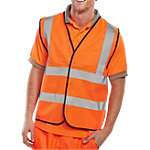 Gilet haute visibilité B Seen Polyester 3XL Orange