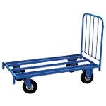 Chariot avec plateau tubulaire Manorga 1000 x 600 x 1200 mm Bleu