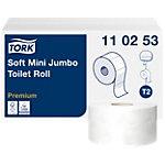 Papier toilette Tork T2 Premium Mini Jumbo 2 épaisseurs 12 Rouleaux de 1214 Feuilles