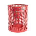 Corbeille à papier Foray Acier, plastique Rouge 24 x 29 cm