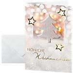 Carte de Noël Sigel Glowing Christmas 220 g