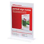 Présentoir Office Depot Sur pieds A4 Transparent Acrylique 21,1 x 9,3 x 29,7 cm