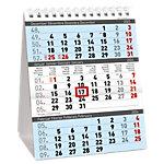 Calendrier de bureau Simplex 3 mois par page 2022 Bleu