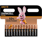 Piles alcalines Duracell Plus Power AAA 12 Unités