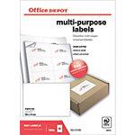 Étiquettes universelles Office Depot Autocollantes 105 x 74 mm Blanc 800 Étiquettes 100 Feuilles de 8 Étiquettes