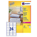 Étiquettes d'adresse Avery QuickPEEL™ Blanc 63,5 x 33,9 mm 250 Feuilles