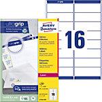 Étiquettes d'adresse Avery L7162 250 Autocollantes 99,1 x 33,9mm Blanc 250 Feuilles de 16 Étiquettes