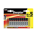 Piles alcalines Energizer LR03 AAA 20 Unités