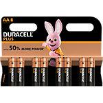 Piles alcalines Duracell Plus Power AA 8 Unités