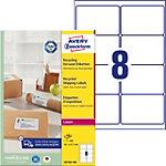 Étiquettes universelles Avery LR7165 100 Recyclé Blanc A4 99,1 x 67,7 mm 100 Feuilles de 8 Étiquettes