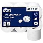 Papier toilette Tork T8 SmartOne Mini Jumbo 2 épaisseurs 6 Rouleaux de 1150 Feuilles