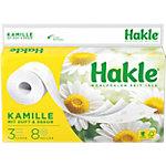 Papier toilette Hakle Kamille 3 épaisseurs 8 Rouleaux de 150 Feuilles
