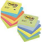 Notes adhésives Post it 76 x 76 mm Jaune, orange, vert, bleu, rose 12 Unités de 100 Feuilles