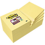Notes Post it Super Sticky 76 x 76 mm Jaune canari bloc de 90 Feuilles Pack avantage 10 + 2 GRATUITS