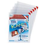 Pochettes d'affichage adhésives Tarifold Kang Easy clip Transparent A4 Chlorure de Polyvinyle 22 x 30 cm 5 Unités