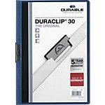 Farde à clip DURABLE Duraclip A4 Bleu Polypropylène Dos :