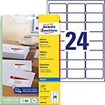 Étiquettes universelles AVERY J8159 25 Blanc A4 63,5 x 33,9 mm 24 Feuilles de 25 Étiquettes