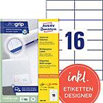 Étiquettes universelles AVERY Zweckform 3484 200 105 x 37 mm Blanc 105 x 37 mm 220 Feuilles de 16 Étiquettes
