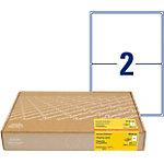 Étiquettes d'adresse AVERY Zweckform 8018 300 A4 Blanc 199,6 x 143,5 mm 300 Feuilles de 2 Étiquettes