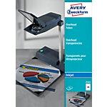 Transparents pour rétroprojecteur AVERY Zweckform 2502 Transparent A4 50 Feuilles