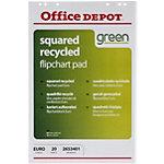 Blocs de papier recyclé pour chevalet Office Depot Euro 70 g