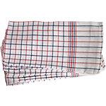 Torchons à vaisselle BETRA Coton Blanc, rouge, bleu 6 Unités