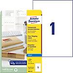 Étiquettes universelles AVERY Zweckform J8567 25 Transparent 210 x 297 mm 25 Feuilles de 1 Étiquettes