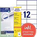 Étiquettes universelles AVERY Zweckform 3424 200 A4 Blanc 105 x 48 mm 220 Feuilles de 12 Étiquettes