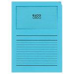 Chemises Elco Ordo Classico A4 Bleu clair Carte Coins droits 22 x 31 cm 100 Unités