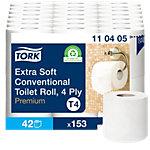 Papier toilette Tork T4 Premium 4 épaisseurs 42 Rouleaux de 153 Feuilles