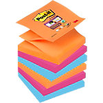 Z notes colorés Post it Super Sticky assortiment 76 x 76 mm 6 unités de 90 feuilles 6 unités de 90 feuilles