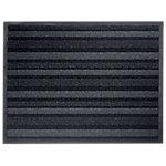 Tapis d'entrée extérieur Office Depot Polyamide Anthracite, noir 68 x 90 cm