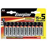 Piles alcalines Energizer LR6 AA 20 unités
