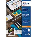 Cartes de visite Avery C32010 25 Blanc Mat 185 g