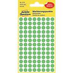 Pastilles autocollantes AVERY Zweckform 3179 Shine Vert Ø 8 mm 4 Feuilles de 104 Étiquettes