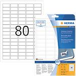 Étiquettes repositionnables HERMA Blanc 25,4 x 16,9 mm 25 Feuilles